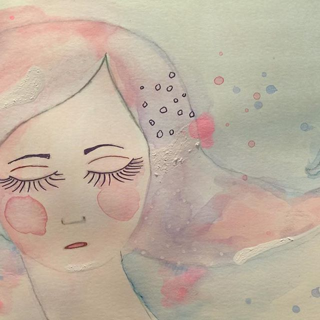 Invested in some good quality watercolors yesterday, and then this little cutie showed up! #watercolor #aquarelle #paintingfaces #whimsical #folkart #paintingfaces #sennelier #art #artsy #instaart #kunst #akvarell #akvarellportrett #vannfarger #artwork #artjournalgirl #artjournal #whimsical #artfun #artistic #myartwork