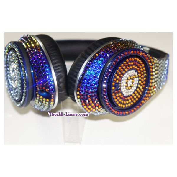 Customized Beats by Dre Headphones made with Swarovski Elements ($599) ❤ liked on Polyvore