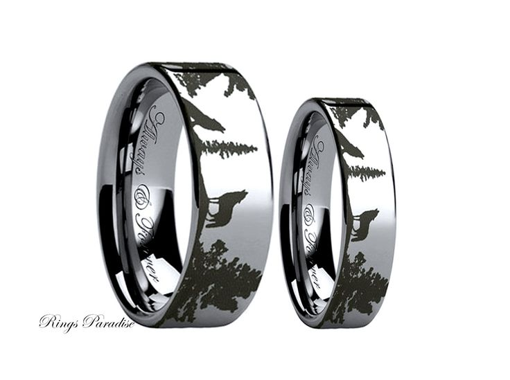 Wolf Ring Couples Wedding Ring Wedding Band Sets by RingsParadise