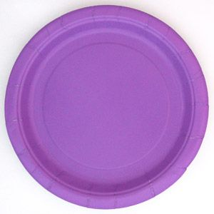 "7"" Pretty Purple Dinner Plates, 24-Count"