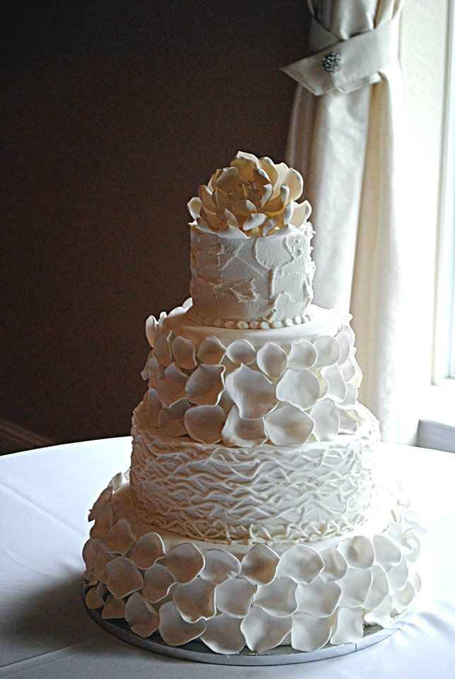 Petal And Grapevine Wedding Cake Rustic