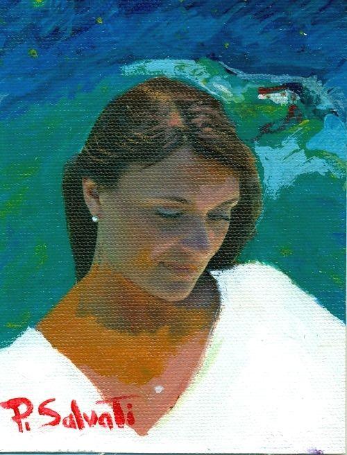 PAOLO SALVATI - Titolo: Isabò, Anno: 2010, Tecnica:  Mista ( colori ad Olio e Tempera) da Serie UNICA.