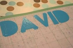 Cut out duct tape shapes with cricut