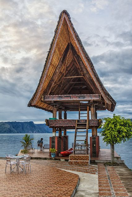 Tabo Cottages, Lake Toba, is a lake and supervolcano located in the middle of the northern part of the Indonesian island of Sumatra. Lake Toba is the largest volcanic lake in the world. - Alexander Ipfelkofer