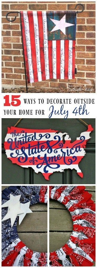 Check our these awesome DIY decor ideas for outside your house. Perfect for your next the 4th of July party!