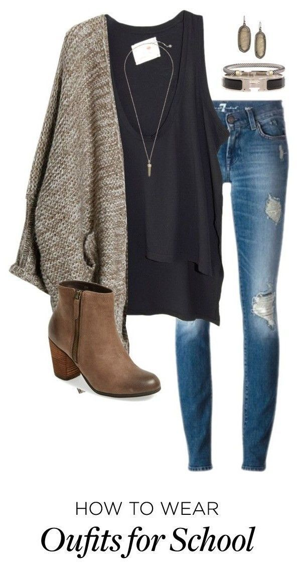 7 school outfits for winter Women, Men and Kids Outfit Ideas on our website at http://7ootd.com #ootd #7ootd