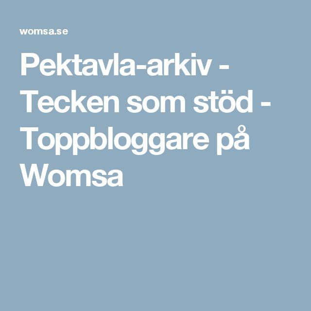 Pektavla-arkiv - Tecken som stöd - Toppbloggare på Womsa