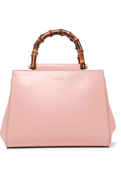 Gucci - Nymphaea Bamboo Small Leather Tote - Pink