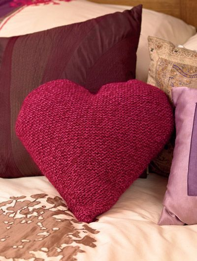 Knitting Pattern Heart Cushion : Heart cushion Knit and Crochet Pinterest