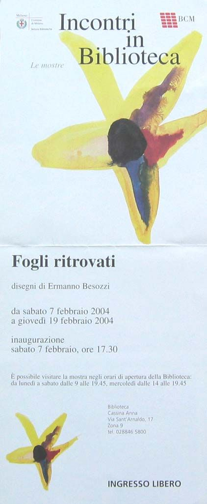 2004 manifesto Biblioteca Cassina Anna, Milano
