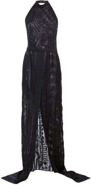 Long Dress - Lyst BALMAIN