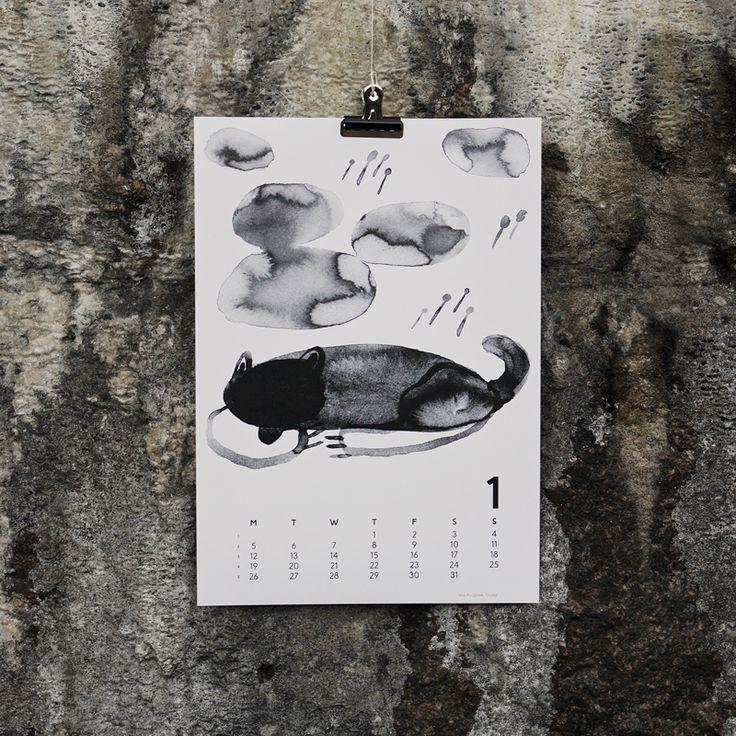 """Hukka"" by Miia Puustinen, for January in Calendar 15. Photography by Joona Louhi."