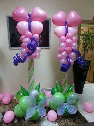Butterfly Balloon Columns
