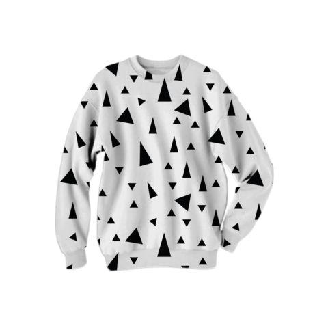 Geometric design, Triangles pattern, Black and White, Scandinavian style
