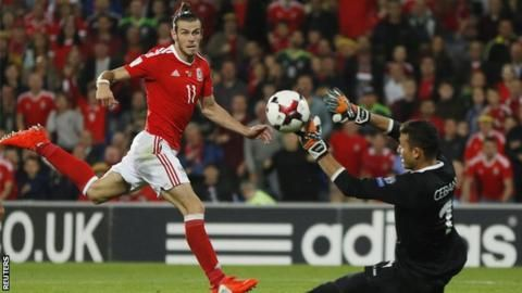 Gareth Bale scores for Wales against Moldova