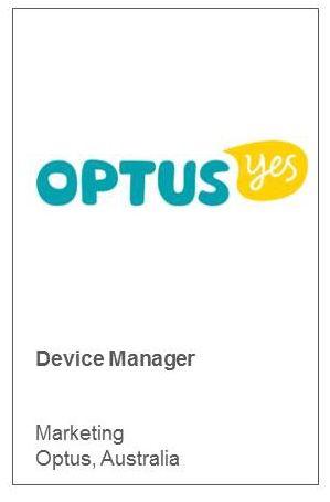 Device Manager Marketing Optus, Australia