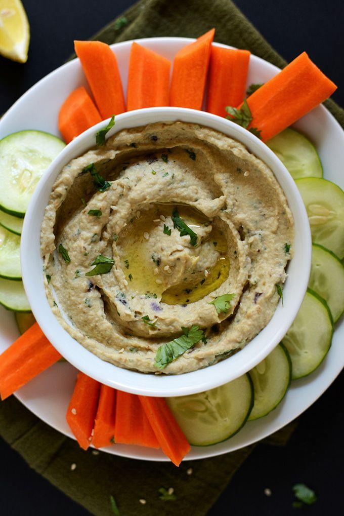 Simple Baba Ganoush! | minimalistbaker.com #vegan #glutenfree