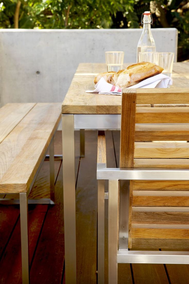 Eco Outdoor Lennox Range   Dining Table, Bench Seats And Dining Armchair  Shown Here.