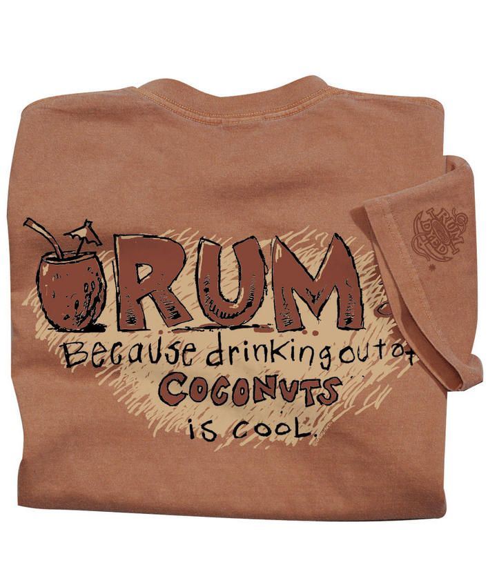 Rum Coconuts - Rum-Dyed Crew Neck T-Shirt