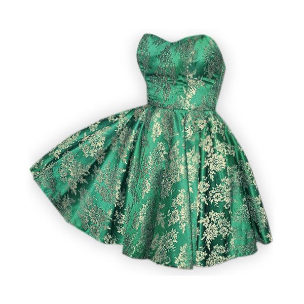 edited by Satinee - Red carpet dresses collection ❤ liked on Polyvore featuring dresses, vestidos, gowns, short dresses, green dress, short green dress, mini dress and green mini dress