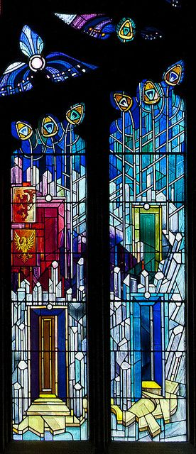 'New' stained glass at St Michael's Parish Church