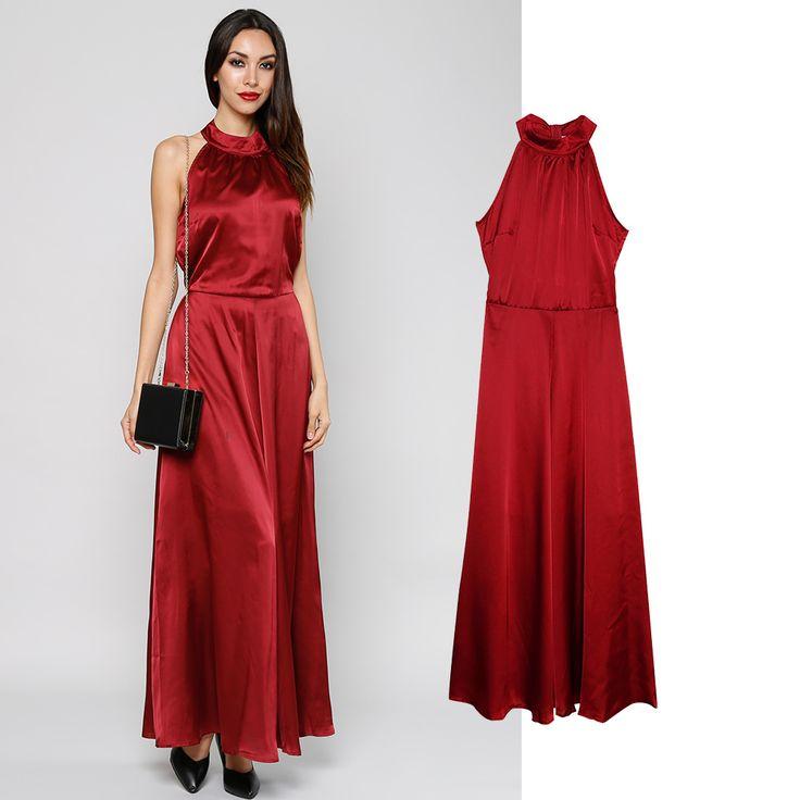 Bestechend schöne Farbgebung; Mit elegantem Stehkragen ; Fließender Fall; Verschluss: rückseitiger Reißverschluss Minusschulter elastischer Taillenbund Maxilänge #fashion #sale #mode #günstig #trend #look #style #outfit