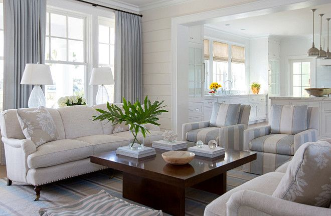 Living Room Neutral Living Room With Neutral Upholstered Furniture And Plaid
