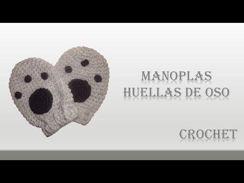 Tutorial Manopla Crochet o Ganchillo Niño Mittens Kid - YouTube