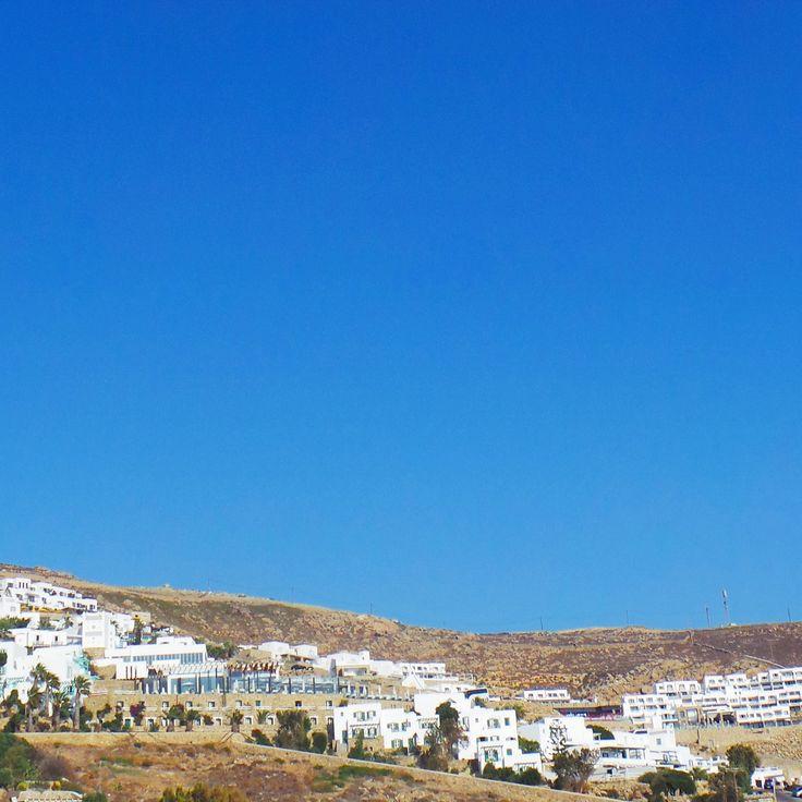 Mykonos town.. #mykonos #holiday #architecture #bluesky #mykonoslife #visitgreecegr #contrast #travel #mediterranean #colour