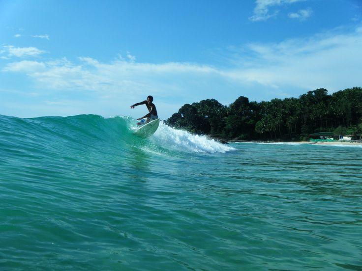Surfing in Phuket, Thailand