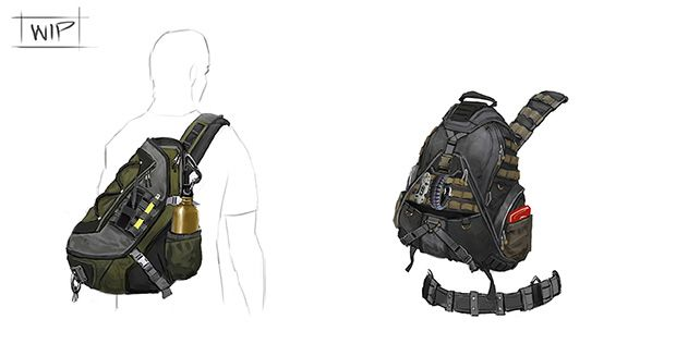 Tom Clancy the Division Go-Bag Concept art