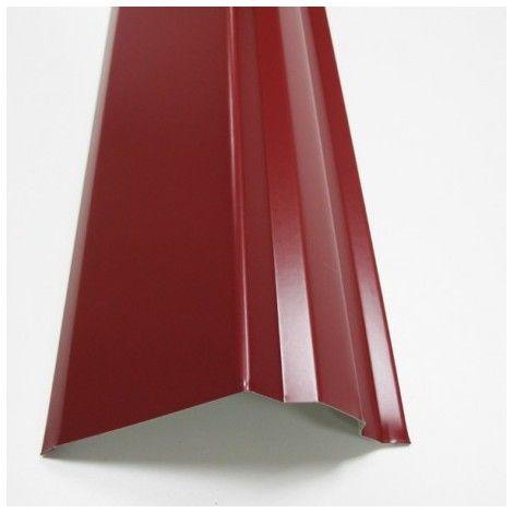 Bande de rive toiture acier galvanisé laqué aspect tuile - 5988015 - Revêtement sol et mur