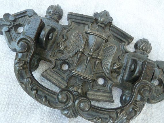 French Antique Large Cast Iron Handle by LeMoulinBleu on Etsy, $50.00