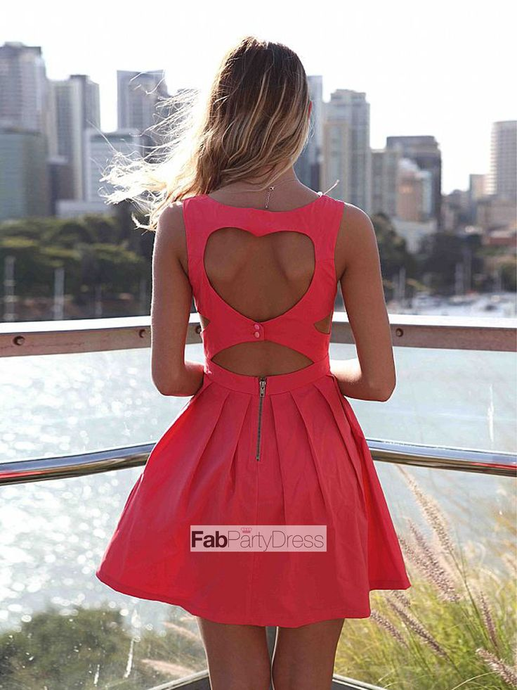 A-line Spaghetti Straps  Sleeveless Short / Mini  Taffeta Cocktail Dresses / Homecoming Dresses