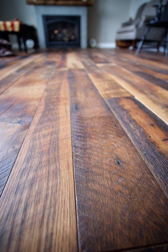 Heartland Barn Wood Reclaimed Random Width Flooring Skip Planed Wide Plank 10 95 Per S F Wood Floors Wide Plank Rustic Wood Floors Reclaimed Wood Kitchen