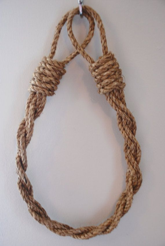 Lovely handmade curtain tie-backs made from natural Manila rope. The rope tie backs are made to order. They look fantastic in any room and compliment curtain fabric of any colour. The rope comes in its wonderful natural colour. There are no other colour variations for this product.  The tie backs are made to order, so please get in touch if you would like to make a specific request . We recommend longer tiebacks for fuller curtains.  Various lengths available. Sold separately or as sets…