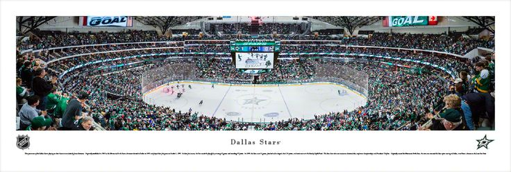 Dallas Stars Panoramic Picture - American Airlines Center - $29.95