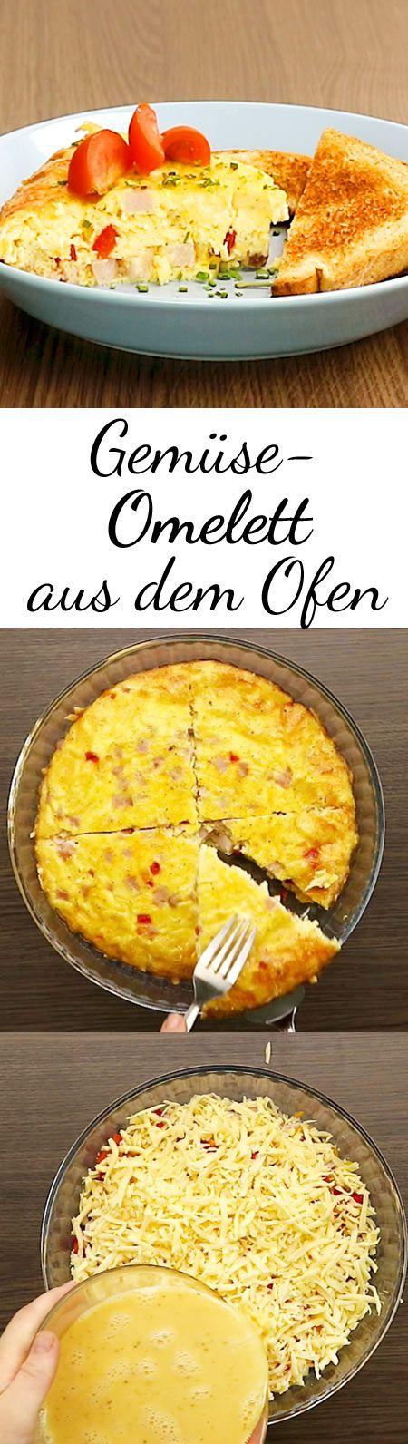 Bei diesem Sattmacher-Omelett kommen alle Zutaten in den Ofen und 30 Minuten später ist das herzhafte Gericht auf dem Tisch.