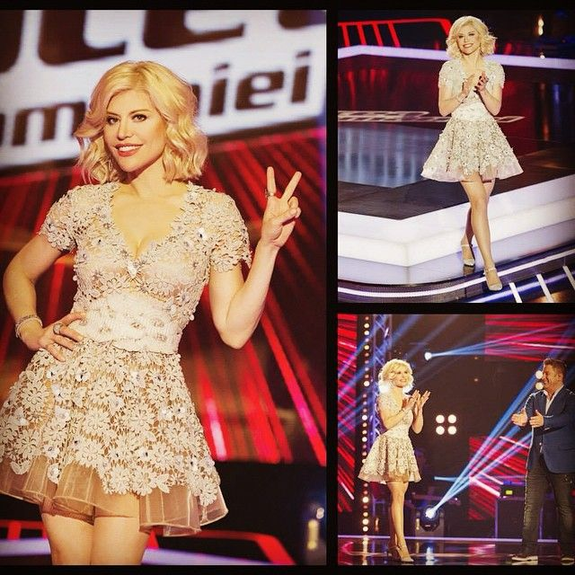 "Tonight on ""Vocea Romaniei"" TV Show Romanian diva Loredana Groza is wearing a custom made dress by NISSA"