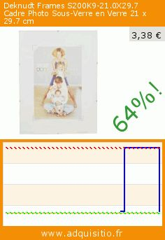 Deknudt Frames S200K9-21.0X29.7 Cadre Photo Sous-Verre en Verre 21 x 29.7 cm (Housewares). Réduction de 64%! Prix actuel 3,38 €, l'ancien prix était de 9,46 €. http://www.adquisitio.fr/deknudt-frames/s200k9-210x297-verre