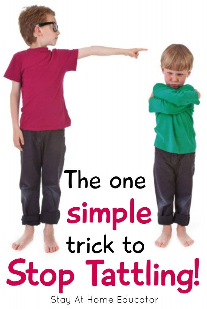 Is tattling a problem This one simple trick will solve tattling! - Stay At Home Educator