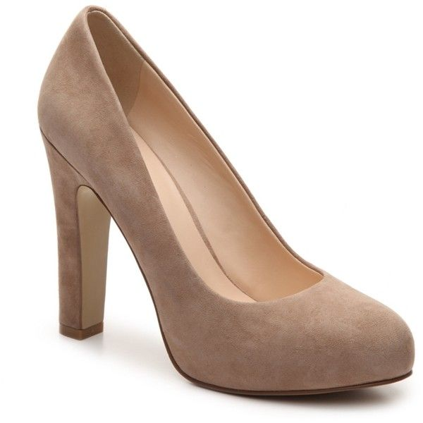 Nine West Scardino Platform Pump ($60) ❤ liked on Polyvore featuring shoes, pumps, platform shoes, suede leather shoes, nine west, suede platform shoes and nine west pumps