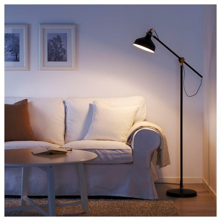 RANARP Lampă citit/lampadar negru - IKEA