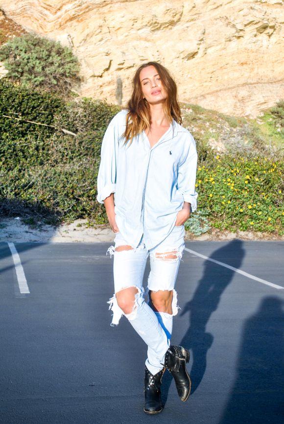 Model Loris Kraemerh showing off her street style