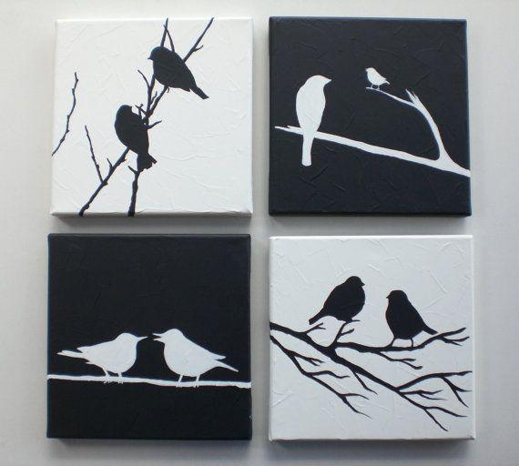 17 mejores ideas sobre pinturas de aves en pinterest for Lienzos para salon modernos