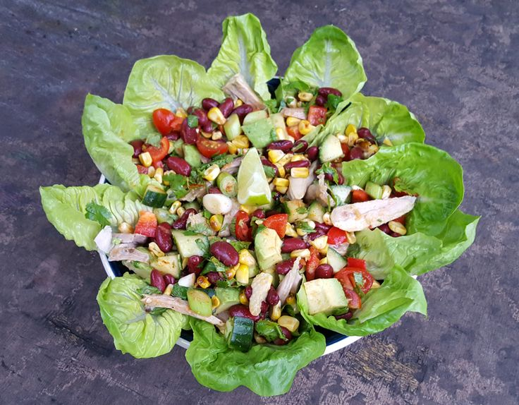 Mexican chicken salad - CookTogether