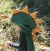 Dinosaur Hooded Kid's Cape Pattern - via @Craftsy