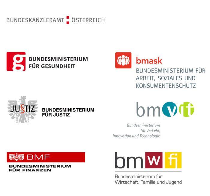 Regierung Österreich – Logos der Ministerien