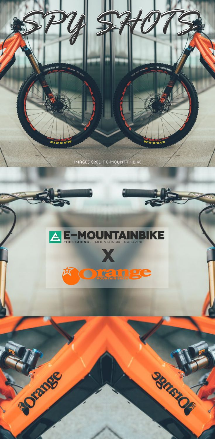Latest Spy Shots of Orange and Strange's electric mountain bike. This MTB is a serious enduro or downhill ebike machine!