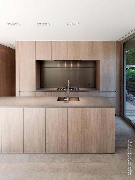 Cocinas de madera modernas con isla cocinas modernas 2018 - Cocina de madera moderna ...